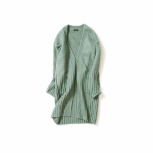 Wide Rib Cardigan(Pistachio Green)