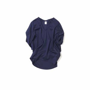 sorella 3⁺¹/V-neck Balloon Tops(Navy)
