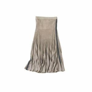 boussole/GLOSSY LAME PLEATS SK(Gold Beige)