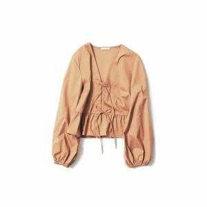 THE IRON/FRONT-RIBBON TOP(CAMEL)